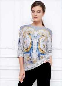 Трикотажная блузка, модель 146w2605
